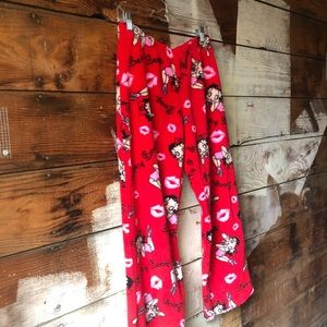 Betty Boop Intimates & Sleepwear - Betty Boop Red Fuzzy Pajama Pants Medium